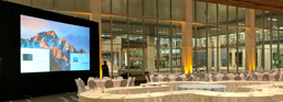 Large Rear Projection System - 16 Foot by 9 Foot Projector Screen at the RBC Convention Centre