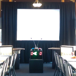 8' by 6' Rear Projection Screen with Short Through Projector