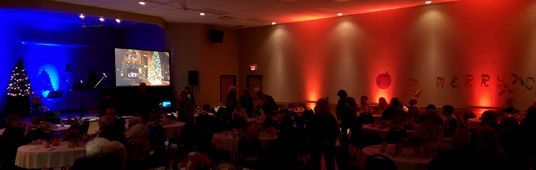 Ambient Lighting with Sound and Screen for Holiday Event