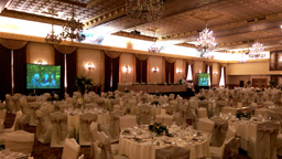 Basic Dual Projection System in the Fort Garry Grand Ballroom