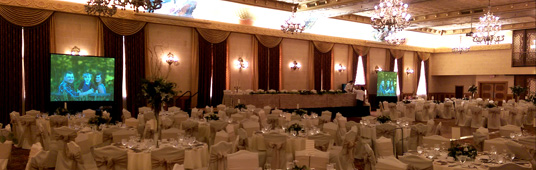 Projection System for a Wedding Reception at the Fort Garry Hotel Grand Ballroom
