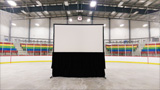 Rear Projection System In-Hockey Arena