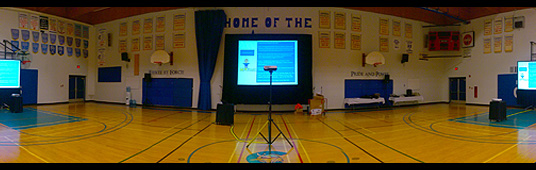 Video Screens & Audio for Teachers Conference