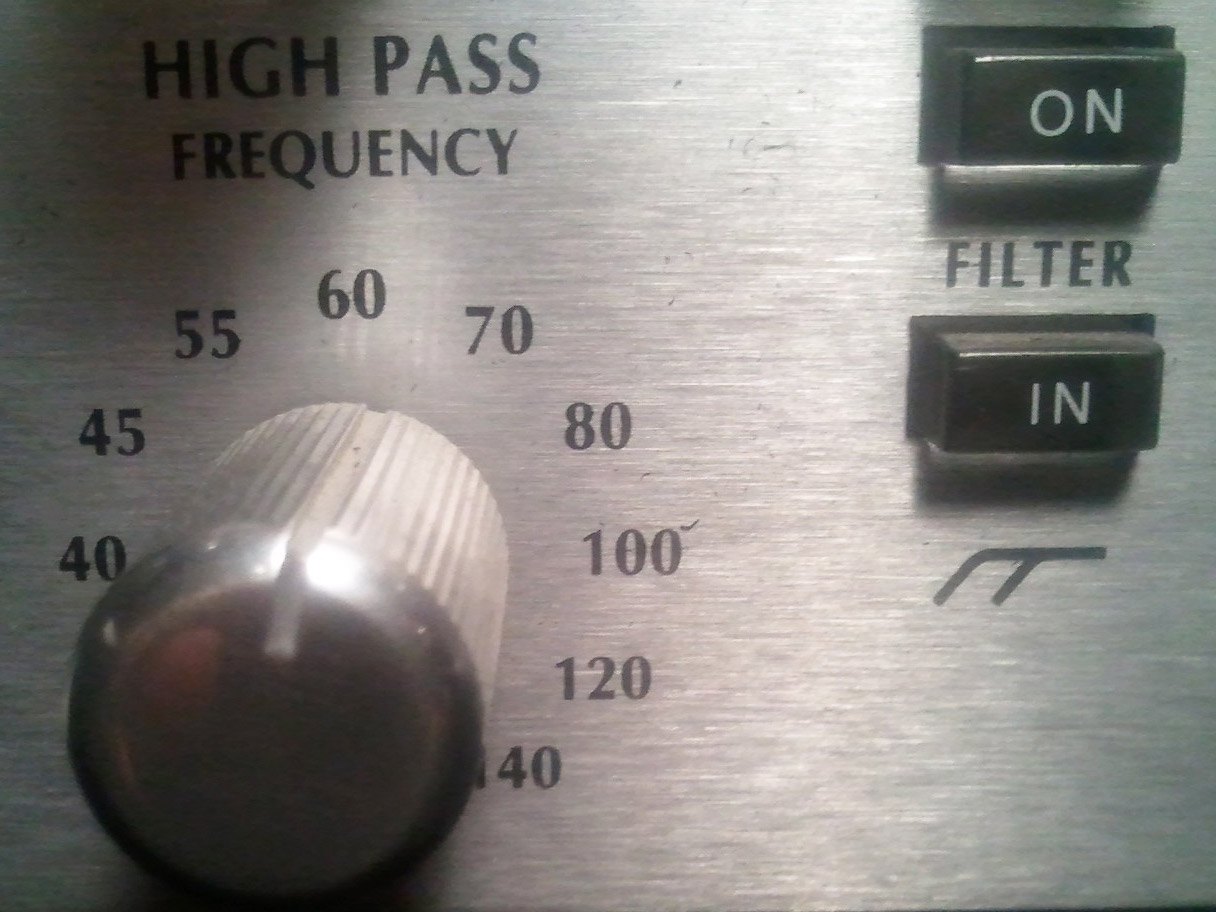 High Pass Filter on Avalon vt-737sp