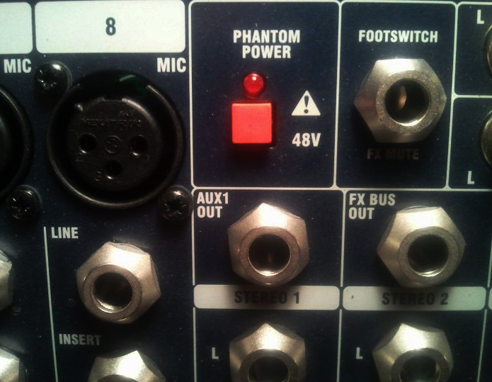 Phantom Power Soundcraft EFX8