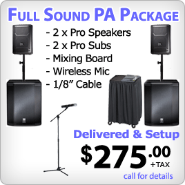 PA System with Subs & Wireless Mic