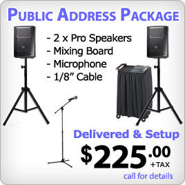 Small Sound System Rental