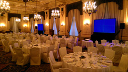 Fort Garry Hotel Provencher Ballroom Dual Projection Screens & Sound System