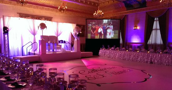 Wedding Video Projection Screens Winnipeg