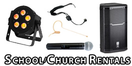 Equipment Rental for School Plays and Church Concerts
