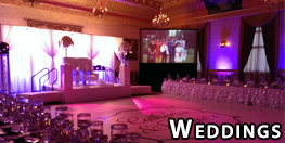 Sound, Video Projection & Lighting for Weddings